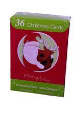 Merry Christmas Xmas Snowman Greeting Cards Reindeer Tree Santa Snow 36 NEW