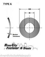 (100) M8 or 8MM Metric A2 / 18-8 Stainless Steel Wave / Curve Washers  Din 137A