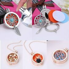 Oil Diffuser Necklace Coin Fragrance Aromatherapy Locket Pendant New+3pcs Disc
