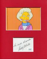 Betty White Golden Girls The Simpsons Rare Signed Autograph Photo Display JSA