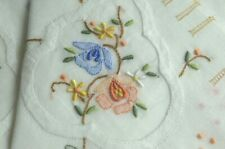6 Vintage Intricately Hand Embroidered Hankies NIB VV683