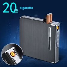 Mens Automatic Cigarette for 20pcs Case With USB Windproof Rechargeable Lighter