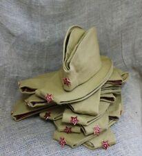 WW2 Soviet Military Hat Army Pilotka Soldier Forage Field Cap Uniform Badge USS