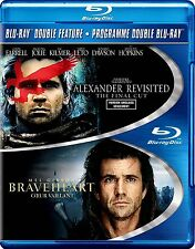 NEW BLU-RAY-  ALEXANDER --  REVISITED + BRAVEHEART - MEL GIBSON , ANGELINA JOLIE