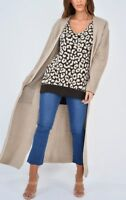 New Ladies Women Long Sleeve Knitted Open Waterfall Maxi Cardigan Sweater Coat
