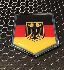 "Germany Flag Domed CHROME Emblem Deutschland Proud Car 3D Sticker 2""x 2.25"""