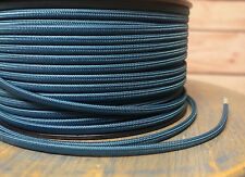Teal Blue 2-Wire Flat Cloth Covered Cord, 18ga Vintage Style Lamps, Nylon Fabric