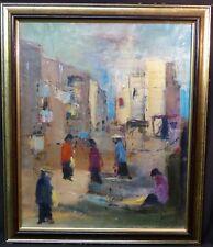 superbe tableau signé Pierre MALRIEUX peinture toile 61cm Mexico 1985 rare