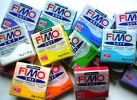 Lotto 20 panetti di FIMO Effect e Soft pasta modellabile colori assortiti NUOVI