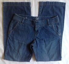 Ann Taylor Loft Womens Sz 6 Blue Jeans Pants Wide Leg *