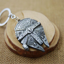 Fashion Silver Star Wars Millennium Falcon Metal Key Ring Keyring Keychain Gift
