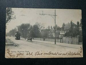 1903 Posted Postcard of  Brighton Road, Purley, Surrey, London