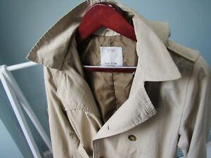 ZARA Kids Boys Raincoat / Trench Coat / Mac in Beige for Age 11-12 yrs