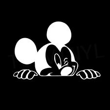 "5"" MICKEY SMILE Vinyl Decal Sticker Car Window Laptop Disney Peek"