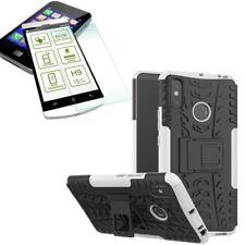 For Xiaomi Redmi Note 6 pro Hybrid Case Outdoor 2 Pieces White + H9 Glass Case