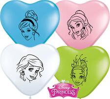 Qualatex 15544 Heart Special Assortment Disney Princess Faces Latex Balloons