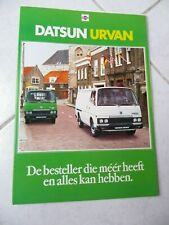 Nissan Datsun Urvan brochure catalogue commercial sales marketing