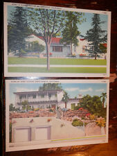 SANTA MONICA CA - BEVERLY HILLS - 2 RARE OLD 1939 POSTCARDS - HOMES