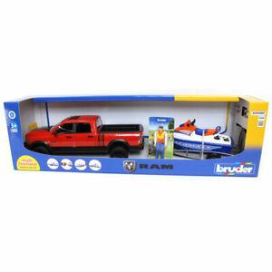 Bruder Ram 2500 Power Wagon w/ Trailer, Jet Ski and Figurine 02503