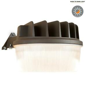 Halo Bronze Outdoor Integrated LED Dusk to Dawn Area Light w/ Built-In Photocell