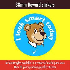 120 Reward Stickers 38mm - 'I look smart today' - for schools, teachers etc