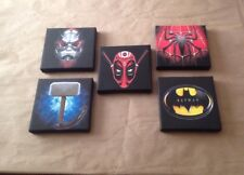 3rd Set Of These 5 Marvel & DC Super Hero Logo Canvas Pictures