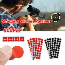 900 Pcs Paper Self Adhesive Target Paster Shooting Stickers Patches Black/Red-.