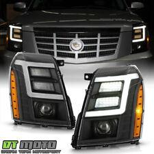 2007-2014 Cadillac Escalade Hid/Xenon Model Black Led Drl Projector Headlights (Fits: Cadillac)