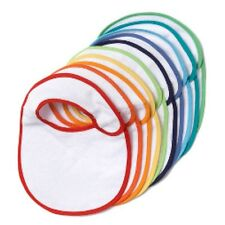 Wholesale Joblot Baby Bibs Coloured Rim New Fast Dispatch Girls Boys Unisex