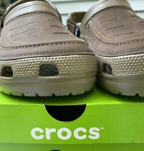 Men's Crocs Classic Yukon Vista Clog SIZE 11 Espresso Khaki New With Tags NWT
