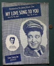 1954 Jackie Gleason Honeymooners TV Show Theme Song sheet music-Capitol Records!