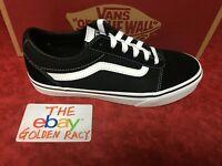 New Vans Big Kids Ward Black Ward Skateboarding Shoes Classic Canvas Suede