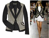 PROENZA SCHOULER Striped Black Linen Jacket 2