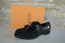 Tods Tod´s 41 Schnürschuhe Halbschuhe Schuhe Lack Franse schwarz neu ehemUVP440€