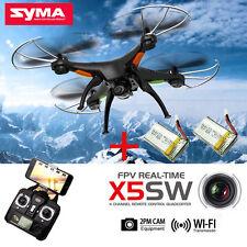 Black Syma X5SW FPV 2.4G 50M RC Drone Quadcopter 2.0MP Wifi Camera+ 2 Battery