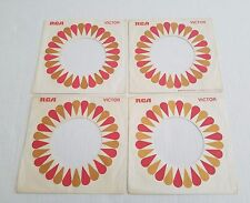RCA Records Company 45 Vinyl Record Sleeves Red / Brown Flower 1969 Lot of 4