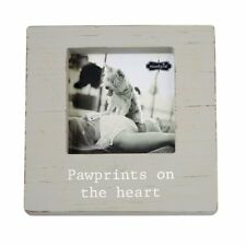 """Mud Pie Muddy Paws Dog Cat """"Pawprints on the Heart"""" Photo Frame Holds 5"""" Picture"""