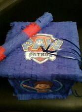 Paw Patrol Pinata Con Dulces Fiesta de Cumpleaños & Stick Personalizable