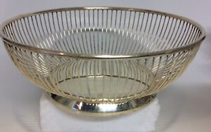 Vintage Italian silver plated wire bowl by Gorham