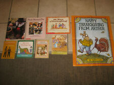 Lot of 7 Thanksgiving picture books + poster, Waters, Prelutsky, dePaola, Kroll