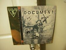REM signed lp **Document **4 members **Michael Stipe **1987**