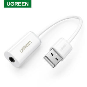 Ugreen Sound Card Adapter TRRS USB to 3.5mm Audio Stereo Aux External Converter