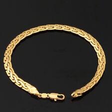 18K Gold Plated Men Women's Unisex Snake Chain & Link Bracelet L19
