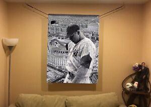 BIG! 43x32  MICKEY MANTLE Vinyl banner Poster NY YANKEES Babe Ruth  Aaron Judge.