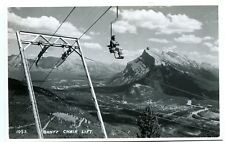 Vintage RPPC Mount Rundle from Chair Lift Banff  Alberta Canada B4676