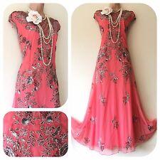 Nuovo con etichette Impreziosito Gatsby anni'20 Paillettes Perline Flapper dress sera Natale 12