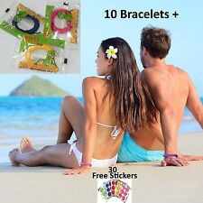 10 Mosquito Repellent Bracelet Wristband Deet Free Natural insect + 30 stickers
