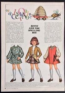 Betsy McCall Mag. Paper Doll, Betsy and the Spelling Bee, Sept. 1975