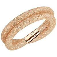 Swarovski Women's Bracelet Stardust Deluxe Rose Gold Double Wrap, Medium 5159278