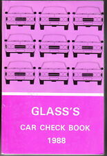 Glass's Guide Car Check Book 1980-1988 Confidential UK Specifications
